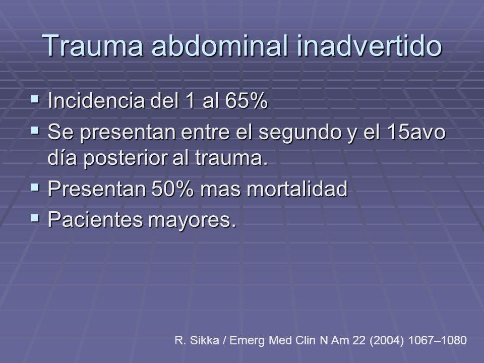 Trauma abdominal inadvertido