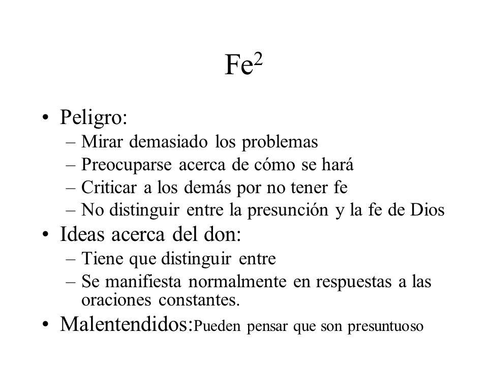 Fe2 Peligro: Ideas acerca del don:
