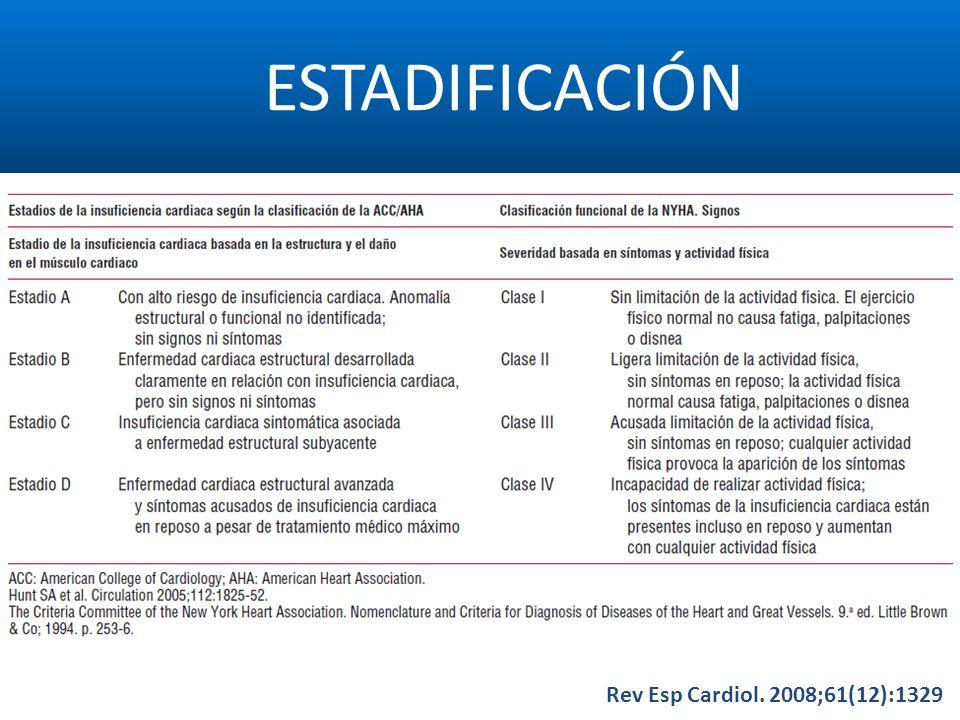 ESTADIFICACIÓN Rev Esp Cardiol. 2008;61(12):1329