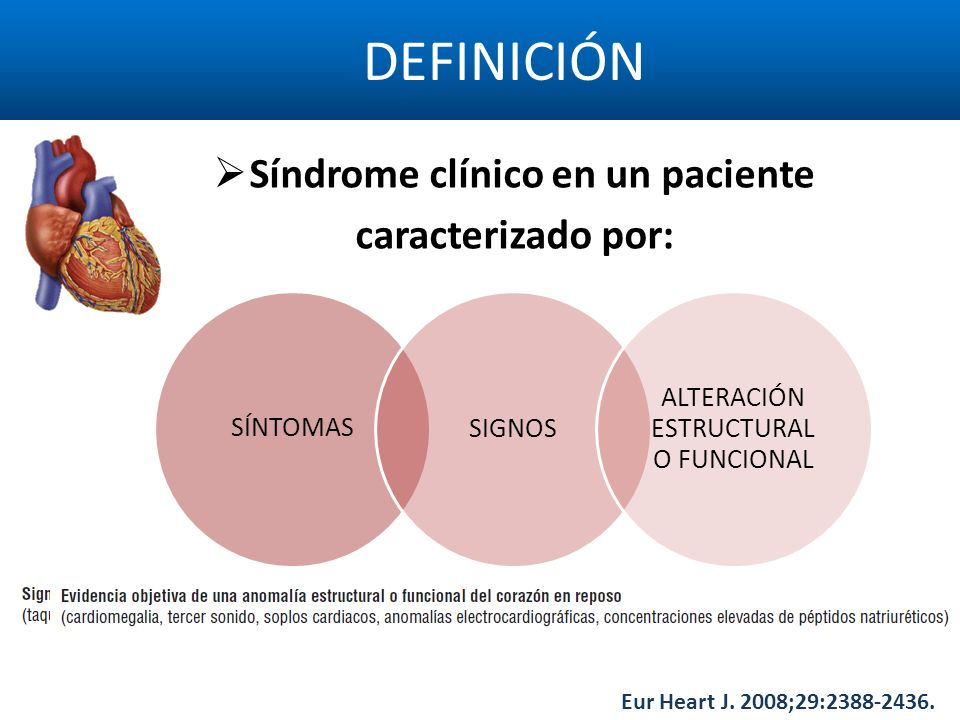 Síndrome clínico en un paciente