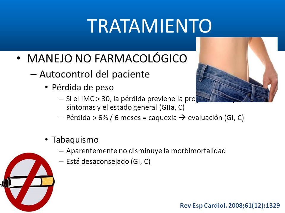 TRATAMIENTO MANEJO NO FARMACOLÓGICO Autocontrol del paciente