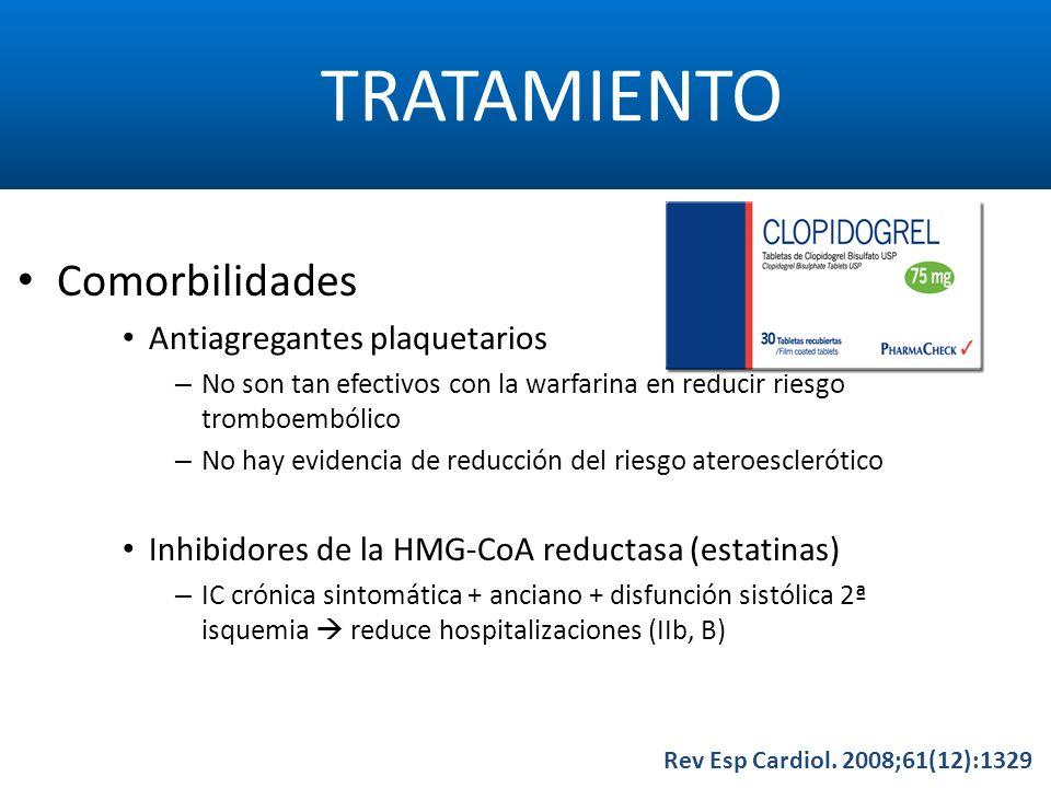 TRATAMIENTO Comorbilidades Antiagregantes plaquetarios