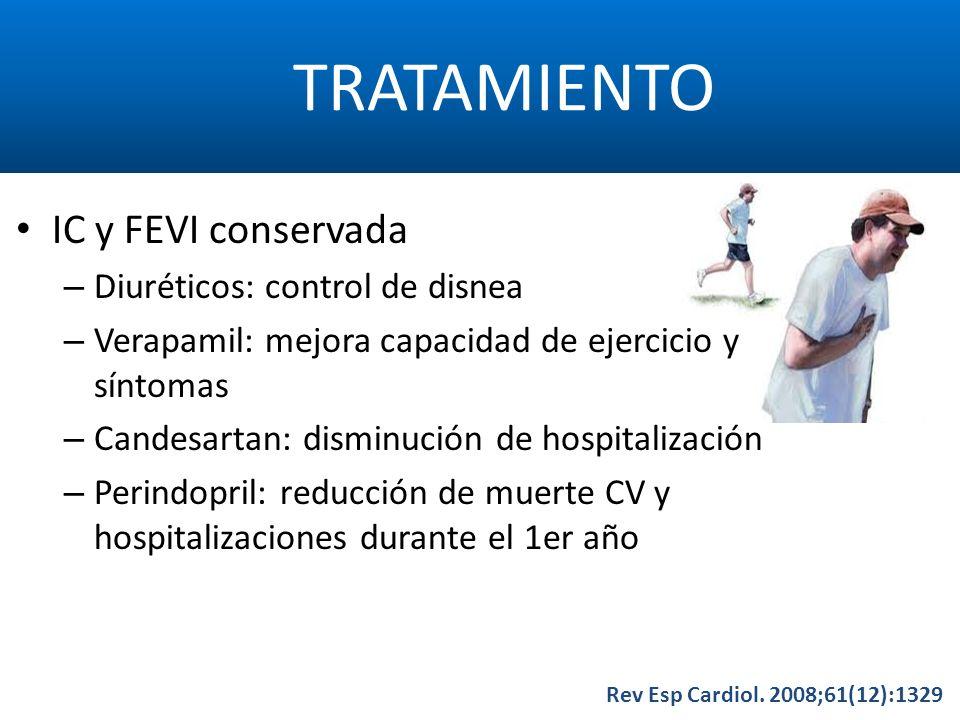 TRATAMIENTO IC y FEVI conservada Diuréticos: control de disnea