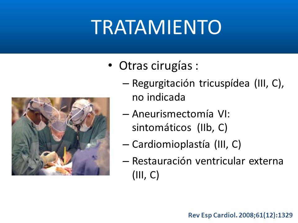 TRATAMIENTO Otras cirugías :