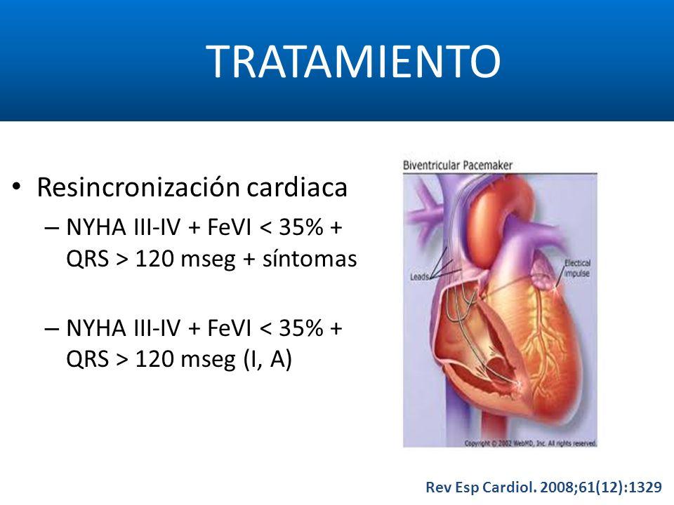 TRATAMIENTO Resincronización cardiaca