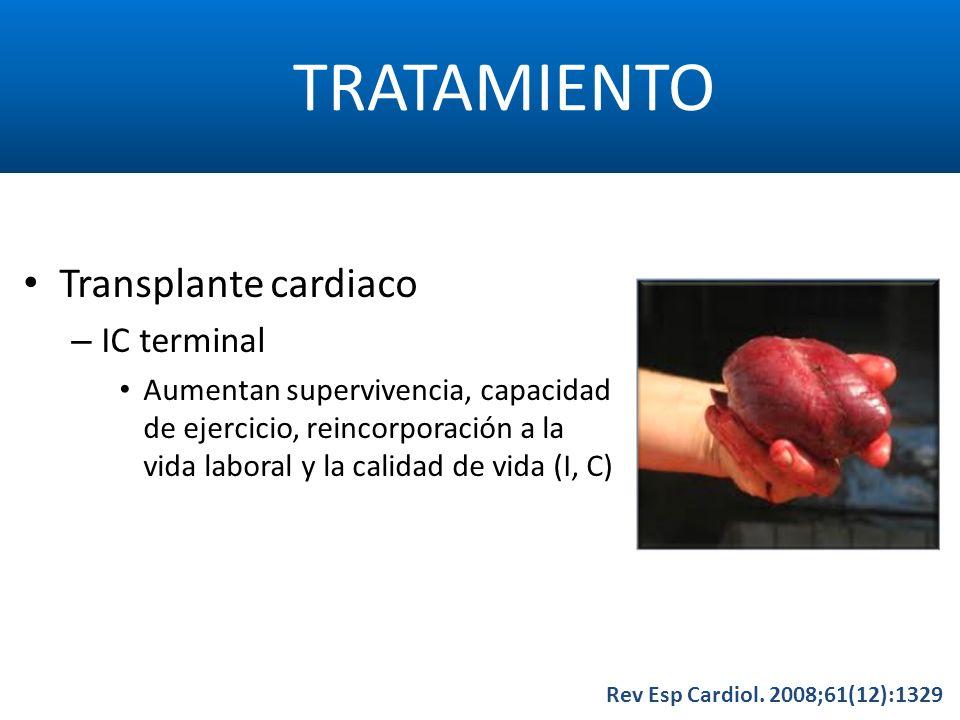 TRATAMIENTO Transplante cardiaco IC terminal