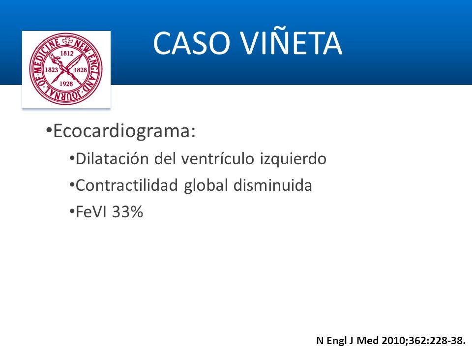 CASO VIÑETA Ecocardiograma: Dilatación del ventrículo izquierdo