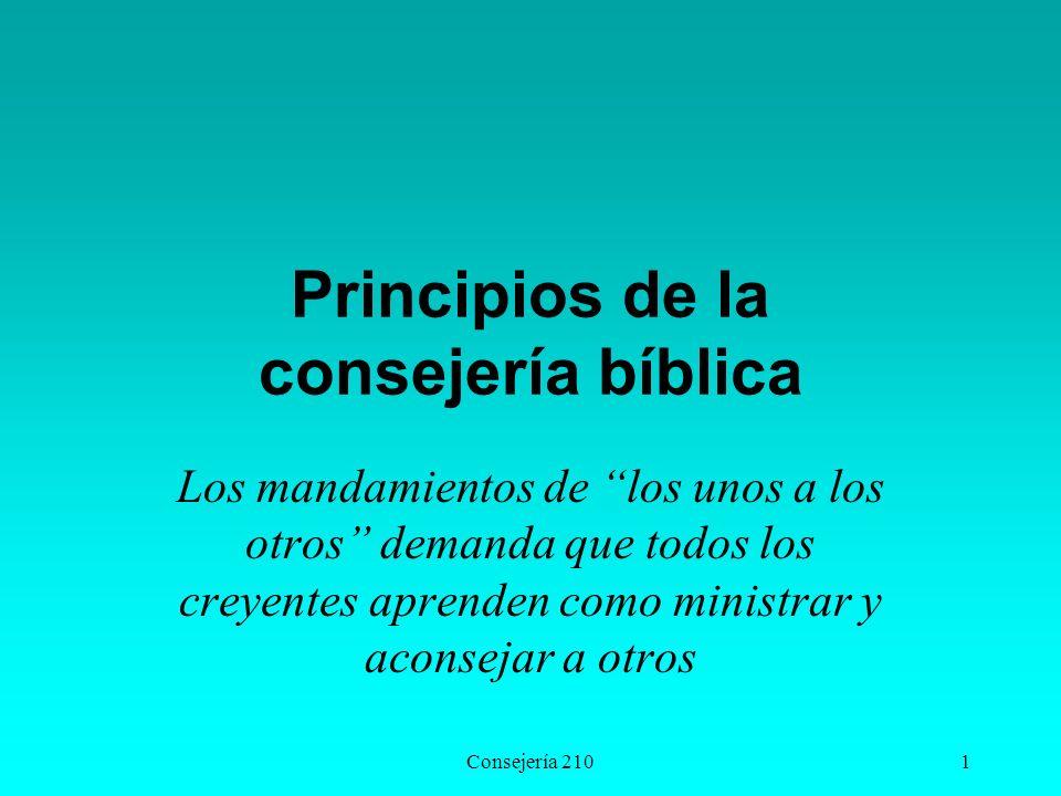 Principios de la consejería bíblica