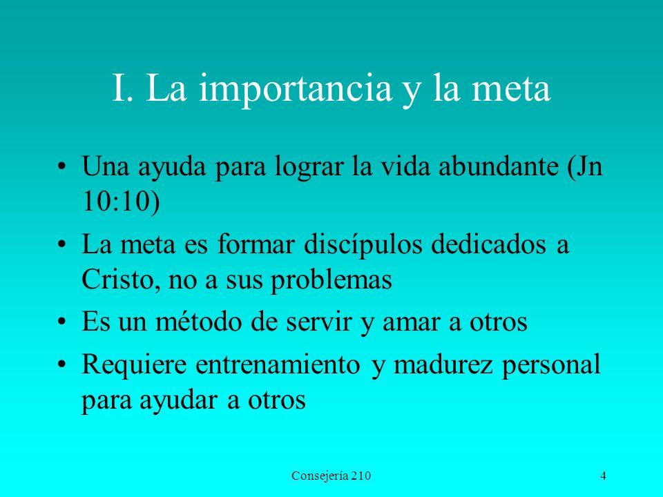 I. La importancia y la meta