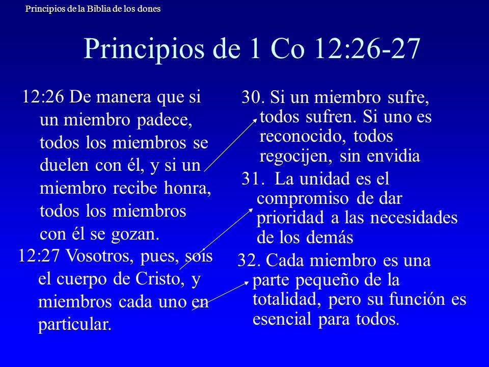 Principios de 1 Co 12:26-27