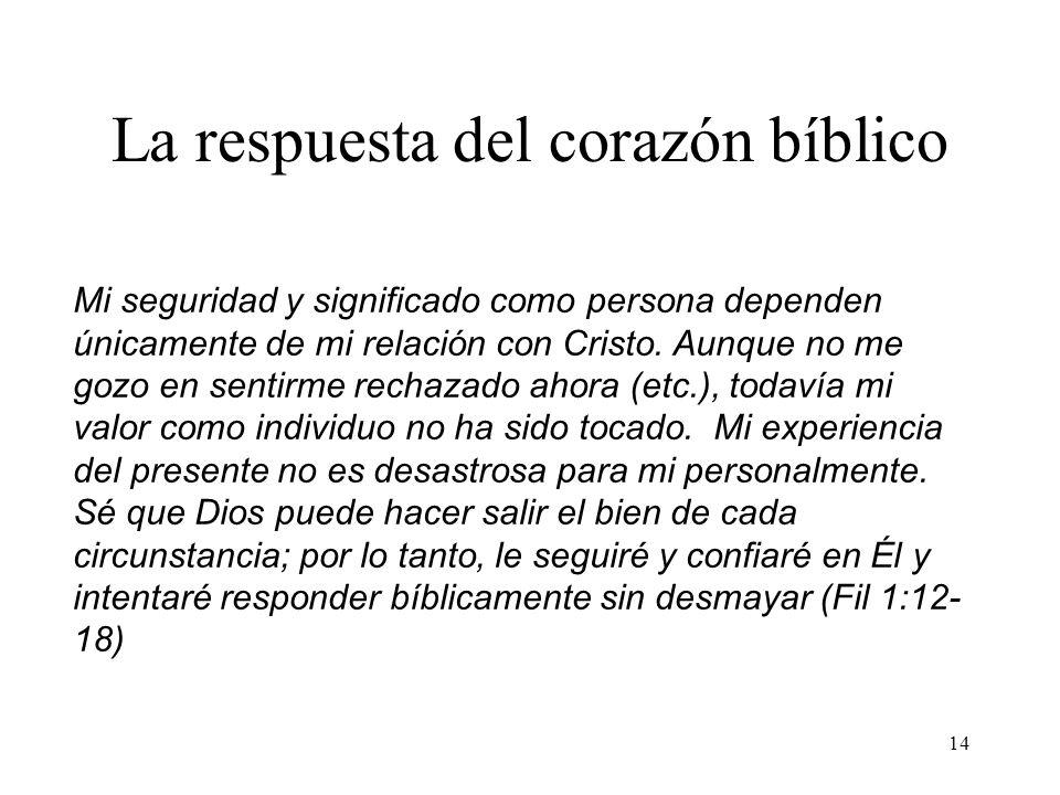 La respuesta del corazón bíblico