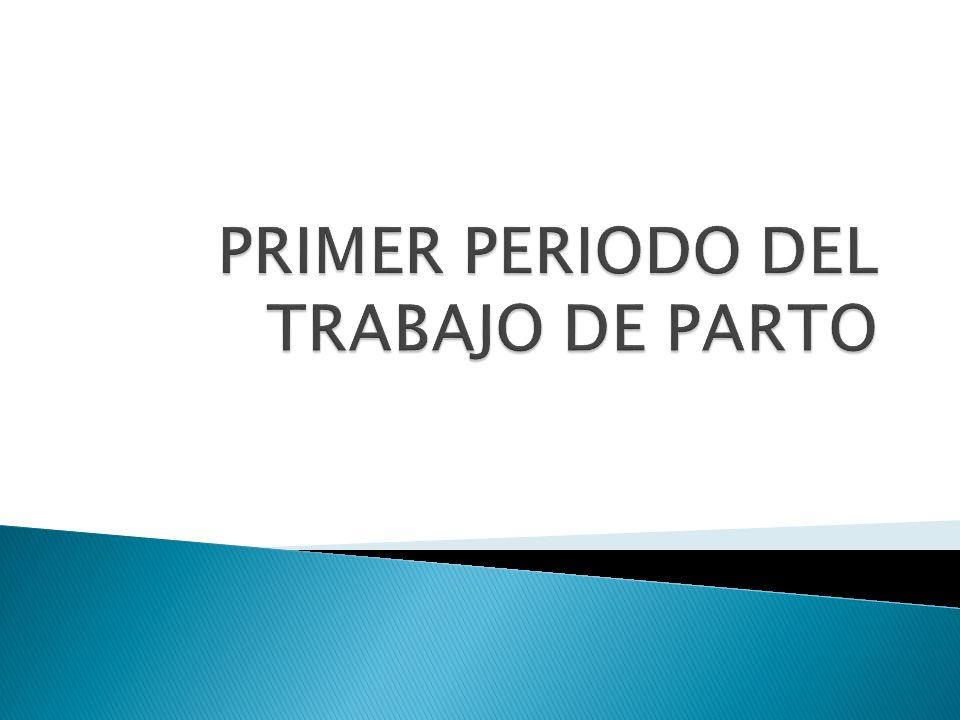 PRIMER PERIODO DEL TRABAJO DE PARTO