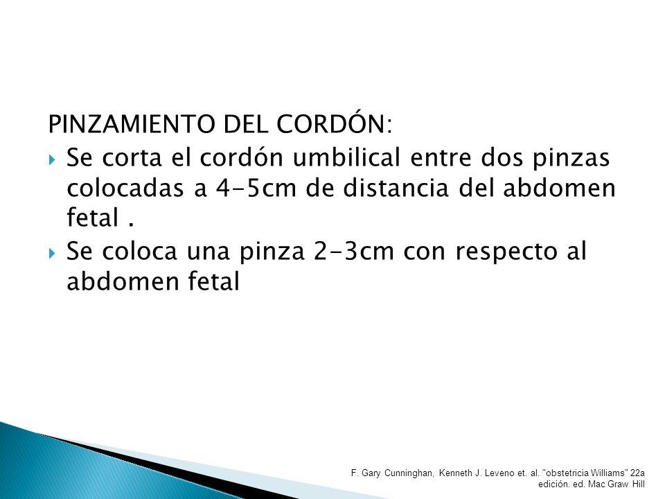 PINZAMIENTO DEL CORDÓN: