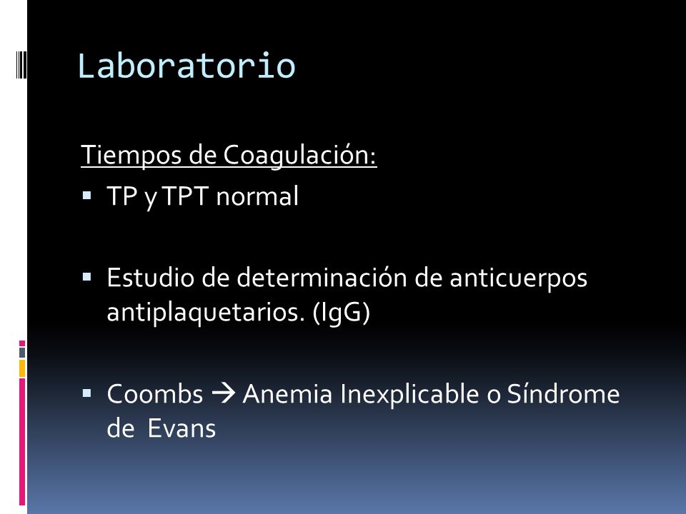 Laboratorio Tiempos de Coagulación: TP y TPT normal