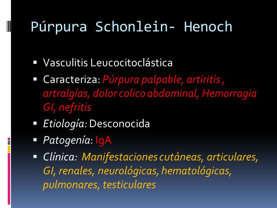 Púrpura Schonlein- Henoch
