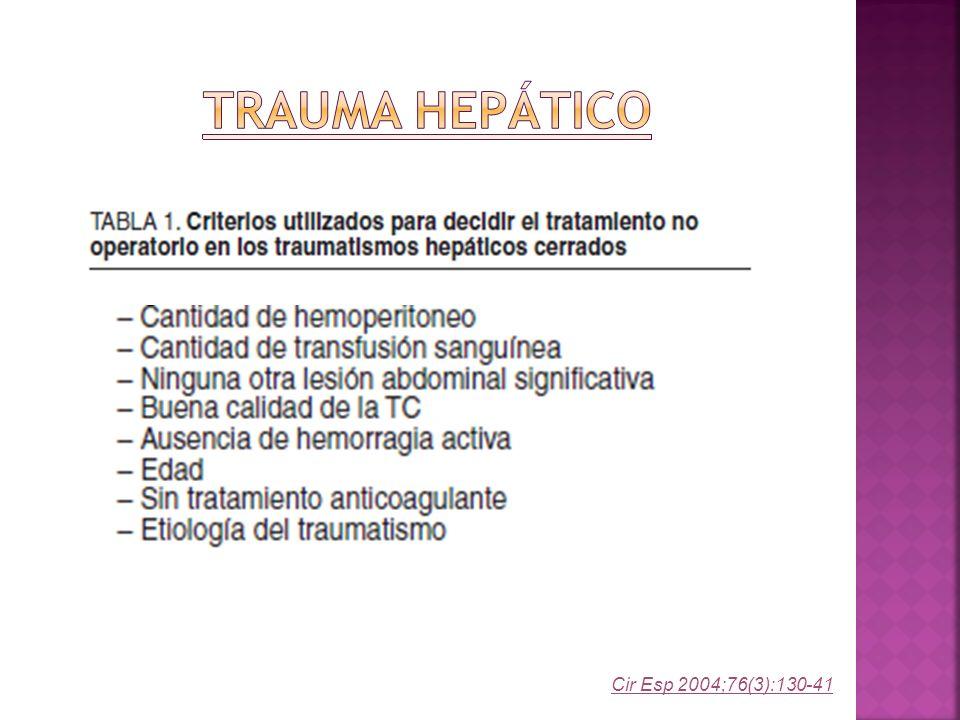 Trauma Hepático Cir Esp 2004;76(3):130-41