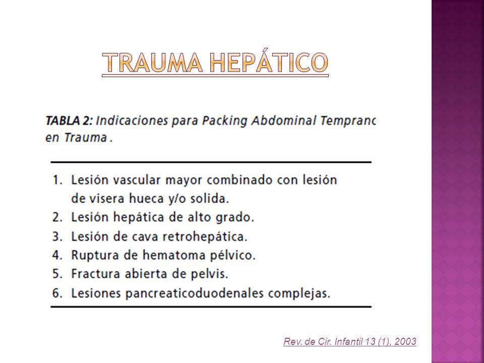 Trauma Hepático Rev. de Cir. Infantil 13 (1), 2003