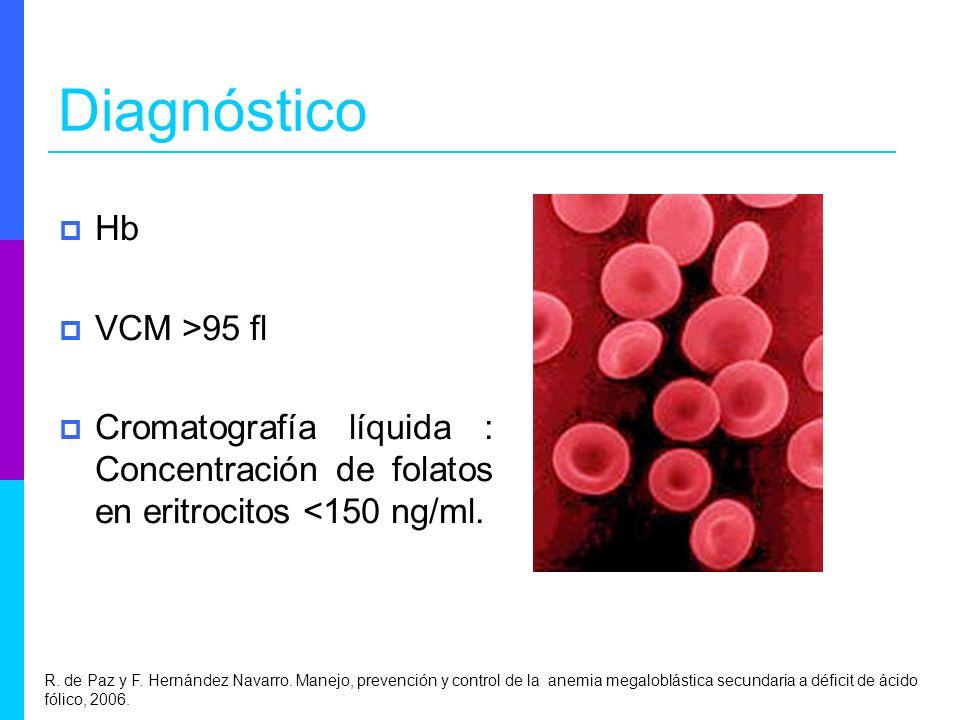 Diagnóstico Hb VCM >95 fl