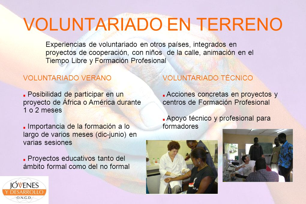 VOLUNTARIADO EN TERRENO