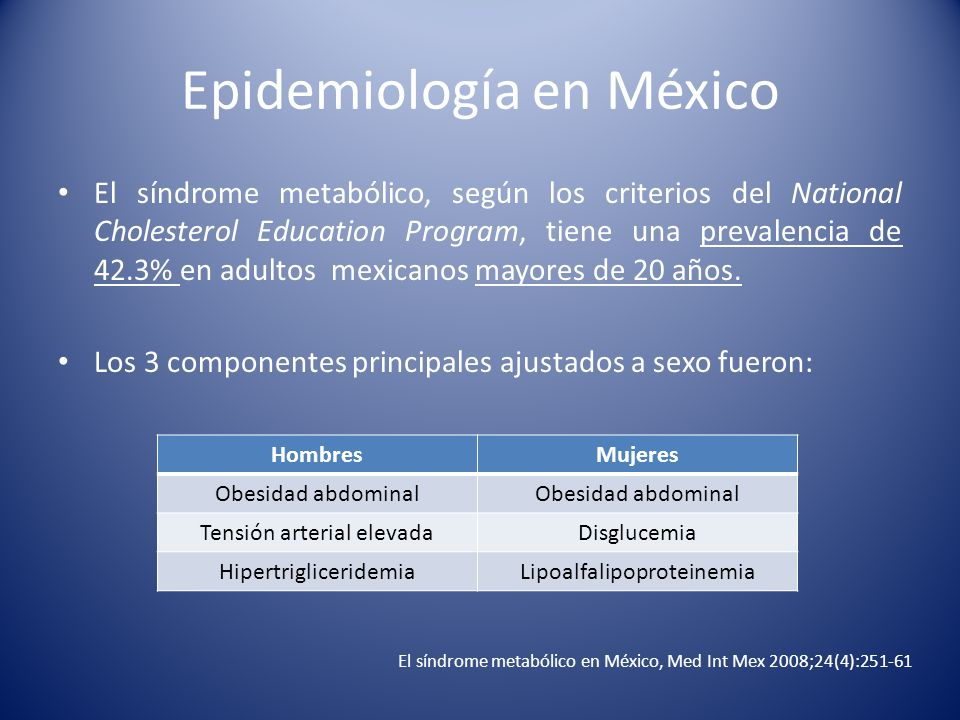 Epidemiología en México