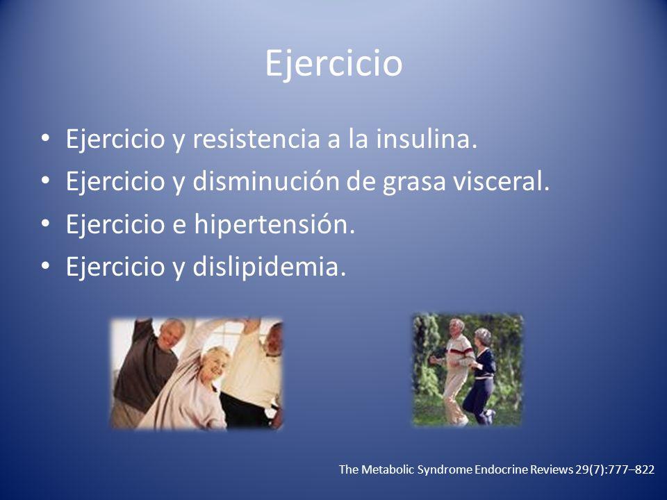 Ejercicio Ejercicio y resistencia a la insulina.