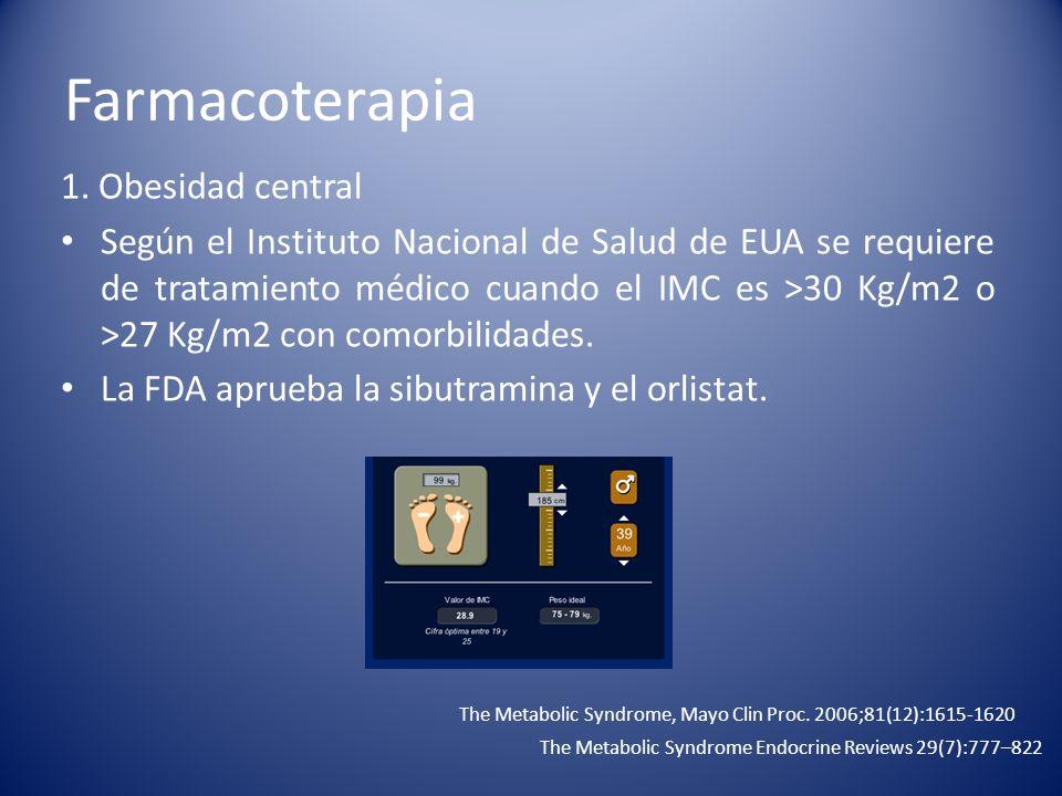 Farmacoterapia 1. Obesidad central