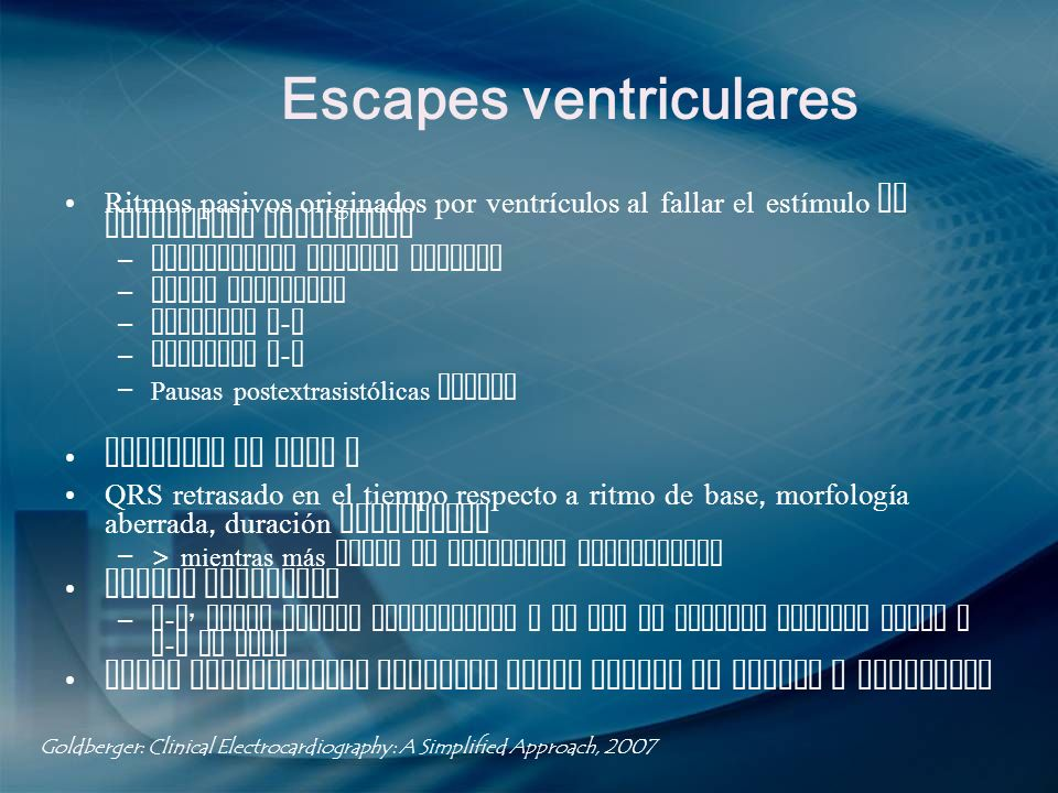 Escapes ventriculares