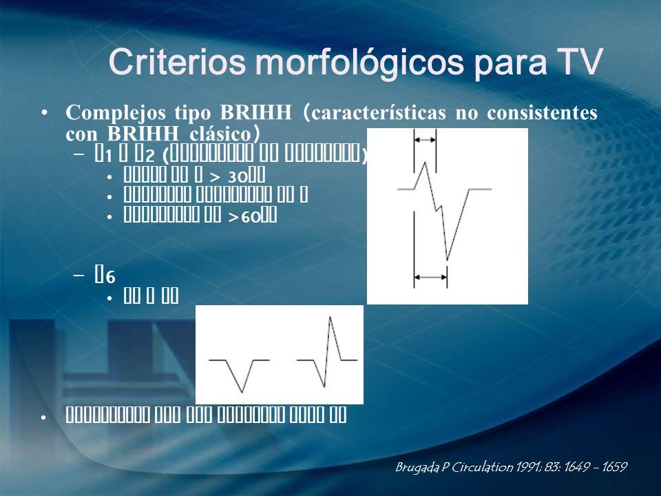 Criterios morfológicos para TV