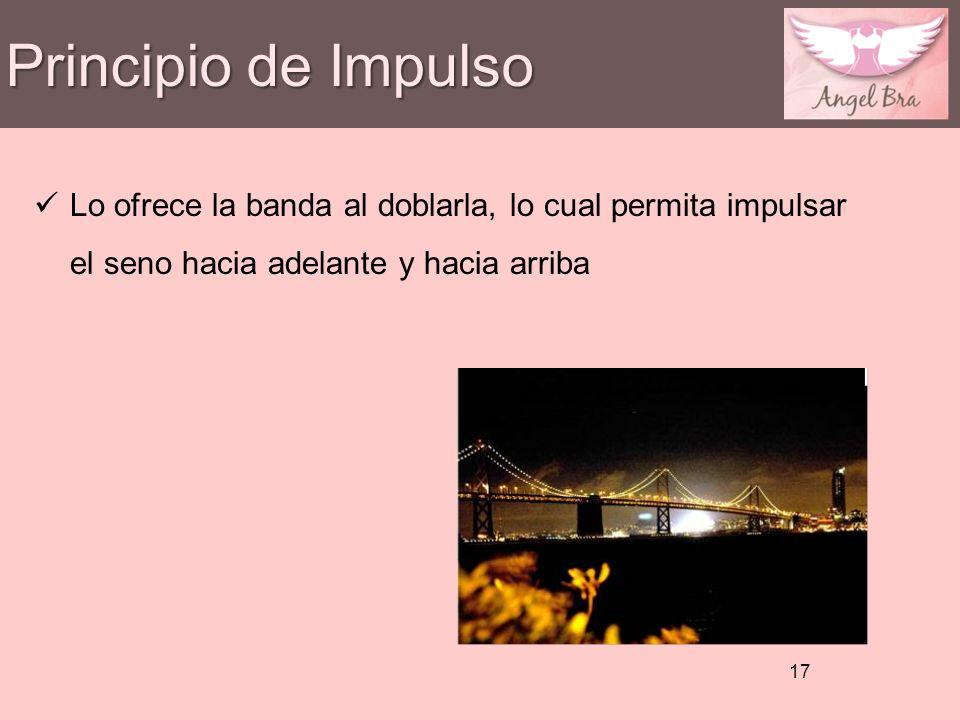 Principio de Impulso Lo ofrece la banda al doblarla, lo cual permita impulsar el seno hacia adelante y hacia arriba.