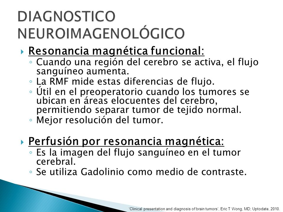 DIAGNOSTICO NEUROIMAGENOLÓGICO