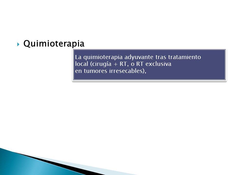 Quimioterapia La quimioterapia adyuvante tras tratamiento
