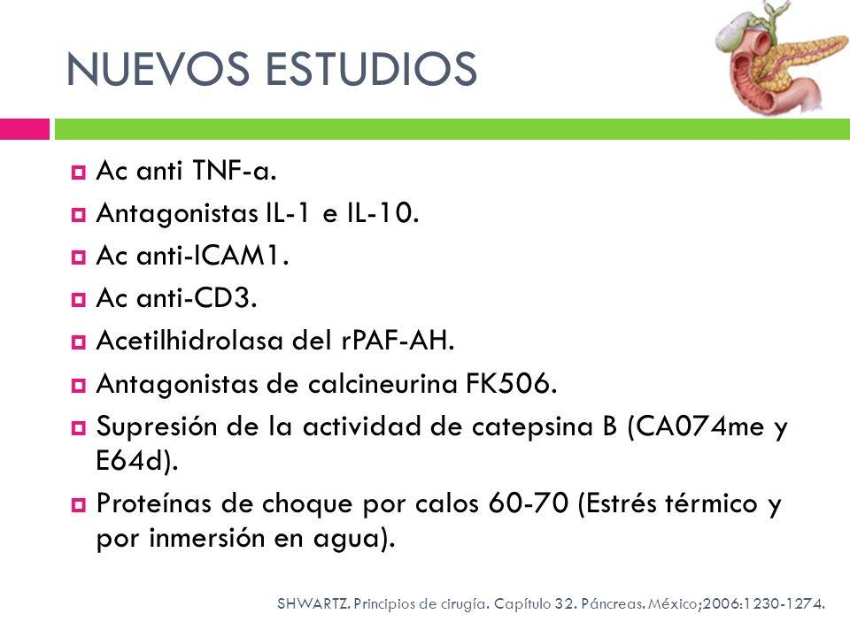 NUEVOS ESTUDIOS Ac anti TNF-a. Antagonistas IL-1 e IL-10.