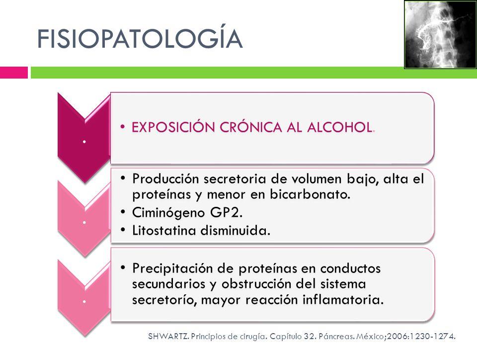 FISIOPATOLOGÍA EXPOSICIÓN CRÓNICA AL ALCOHOL.