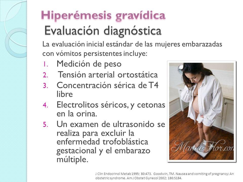 Hiperémesis gravídica Evaluación diagnóstica