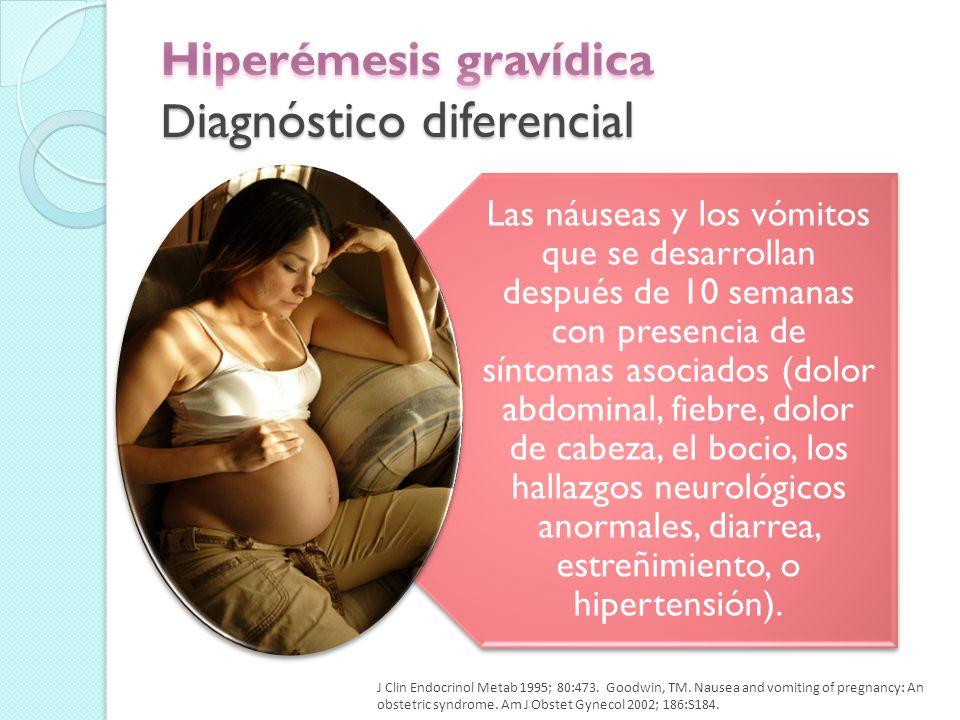 Hiperémesis gravídica Diagnóstico diferencial