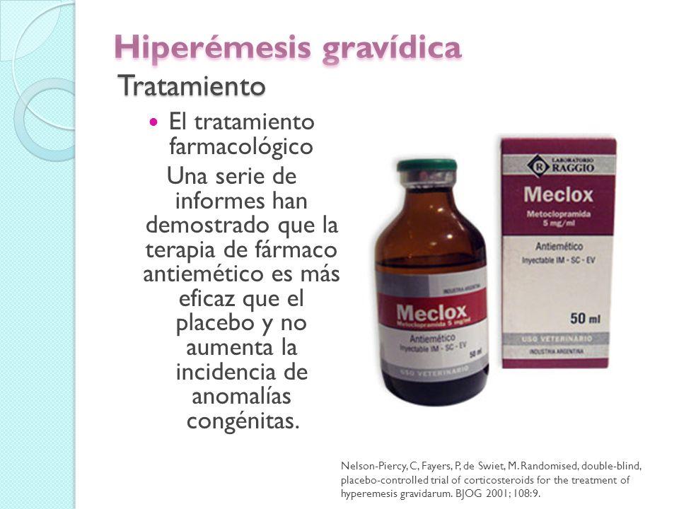 Hiperémesis gravídica Tratamiento