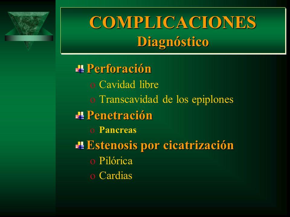 COMPLICACIONES Diagnóstico