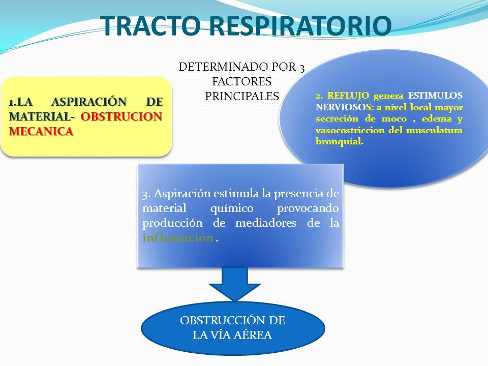 TRACTO RESPIRATORIO DETERMINADO POR 3 FACTORES PRINCIPALES