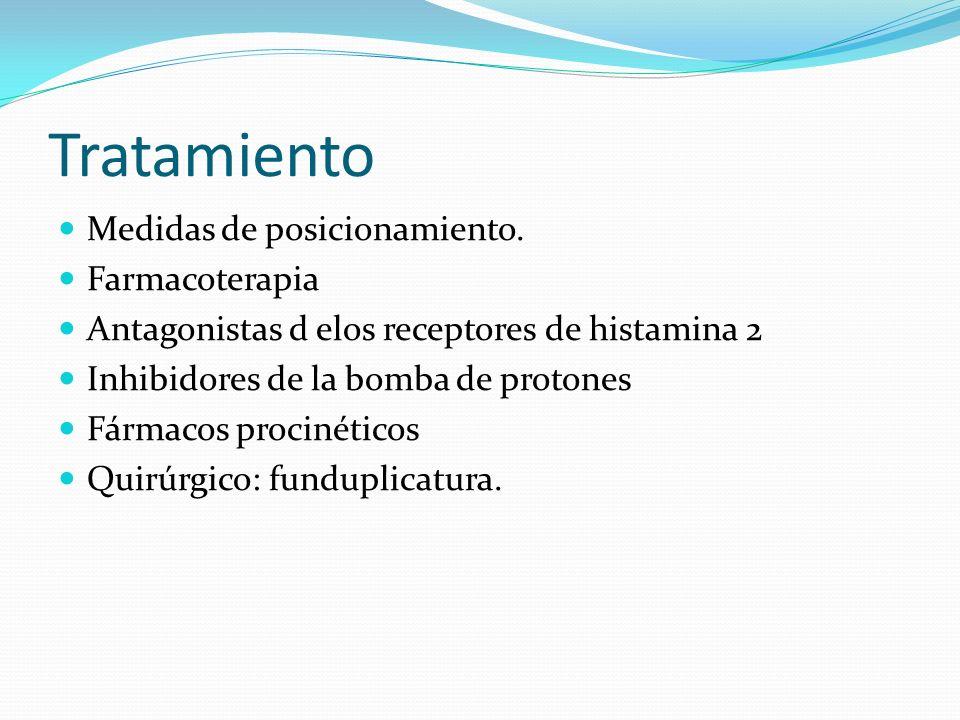 Tratamiento Medidas de posicionamiento. Farmacoterapia