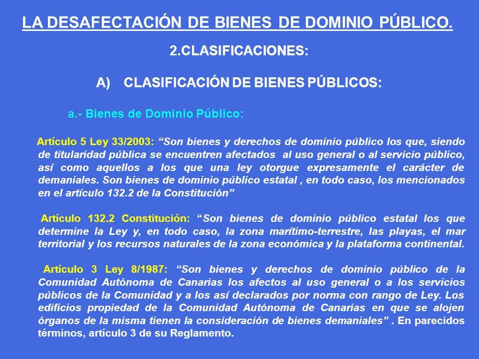CLASIFICACIÓN DE BIENES PÚBLICOS: