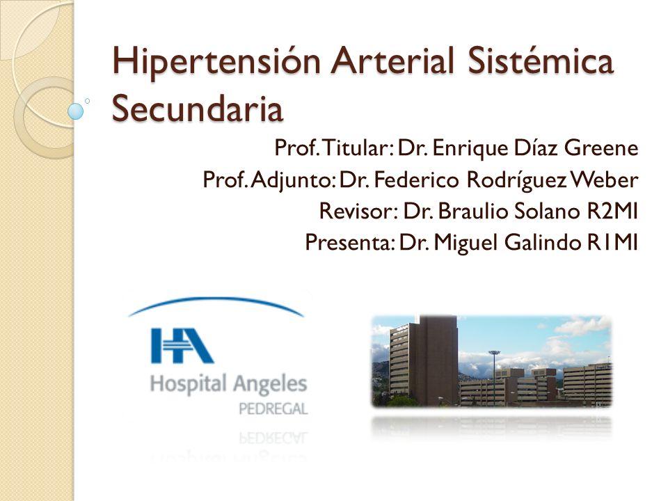 Hipertensión Arterial Sistémica Secundaria