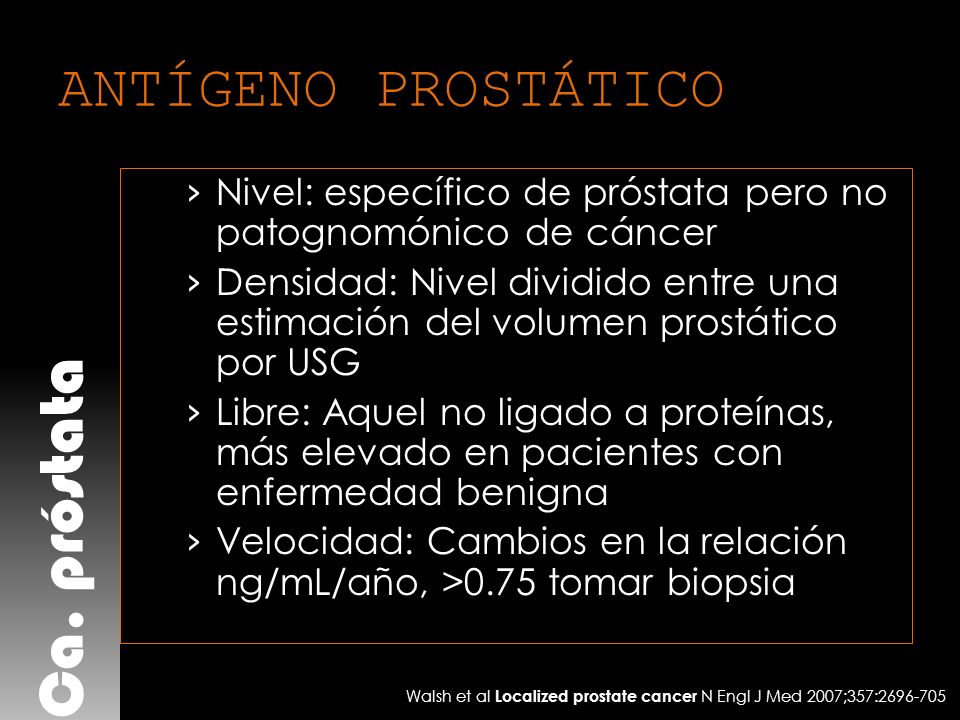 Ca. próstata ANTÍGENO PROSTÁTICO