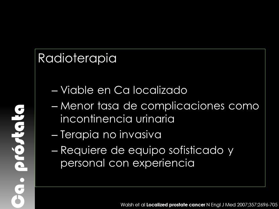 Ca. próstata Radioterapia Viable en Ca localizado
