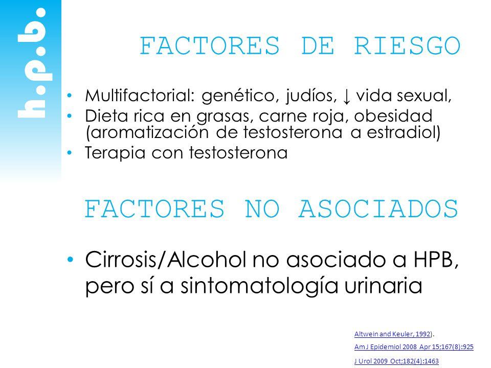 h.p.b. FACTORES DE RIESGO FACTORES NO ASOCIADOS