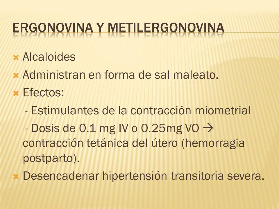 Ergonovina y Metilergonovina