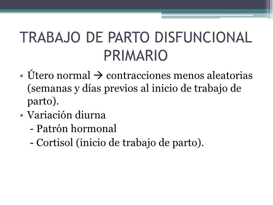 TRABAJO DE PARTO DISFUNCIONAL PRIMARIO