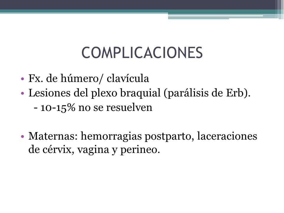 COMPLICACIONES Fx. de húmero/ clavícula