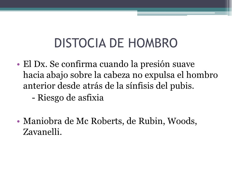 DISTOCIA DE HOMBRO