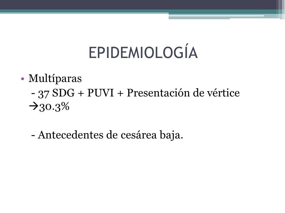 EPIDEMIOLOGÍA Multíparas