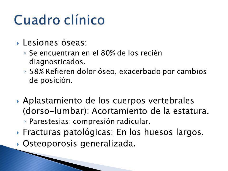 Cuadro clínico Lesiones óseas: